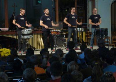 Schools Concert, 2014, TorQ Percussion Quartet
